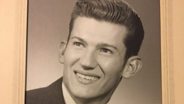 """Raymond """"Rayme"""" Updegraff, pictured in his high school graduation photo, was a homeless man who died when he was struck by a police car near in East Manchester Township."""
