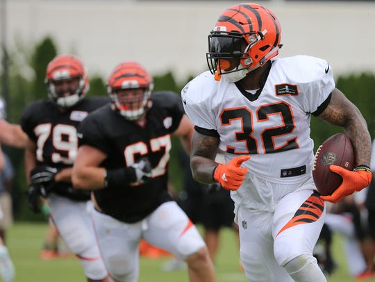 Jeremy Hill knows he is competing for playing time