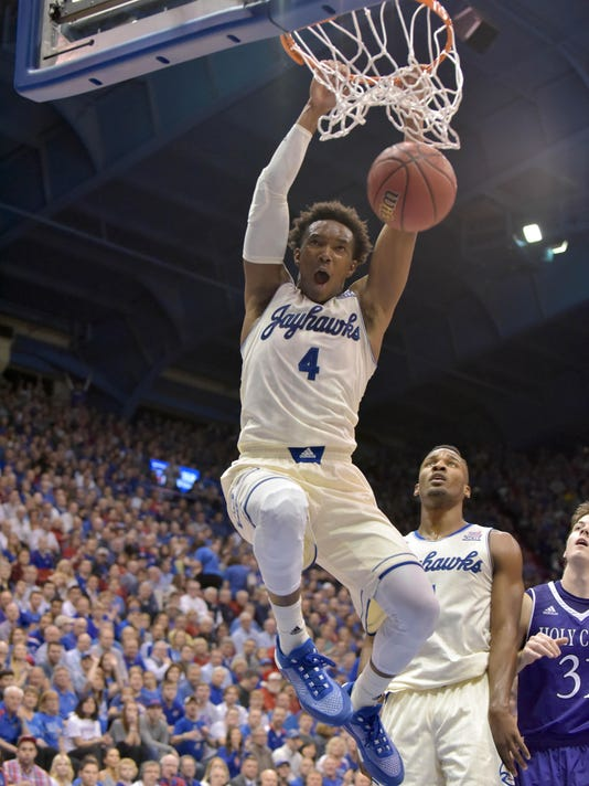 NCAA Basketball: Holy Cross at Kansas