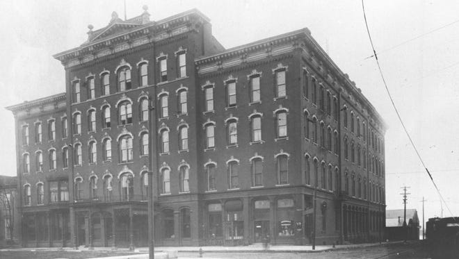 The St. George Hotel, owned by entrepreneur David J. Mackey, opened its doors with a large Inaugural Banquet and Ball, held February 17, 1874.