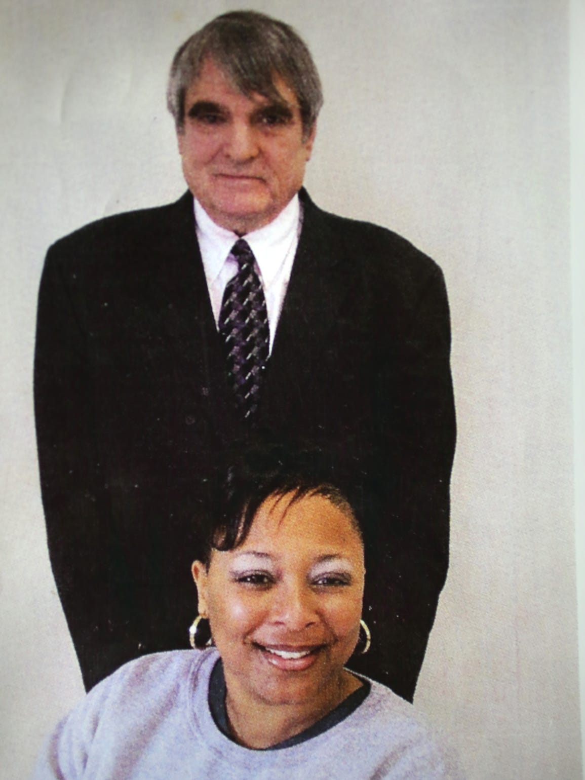 This is a photo of Bill Pelke and Paula Cooper when