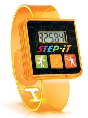 """A 2016 """"Step-It"""" Happy Meal wristband."""