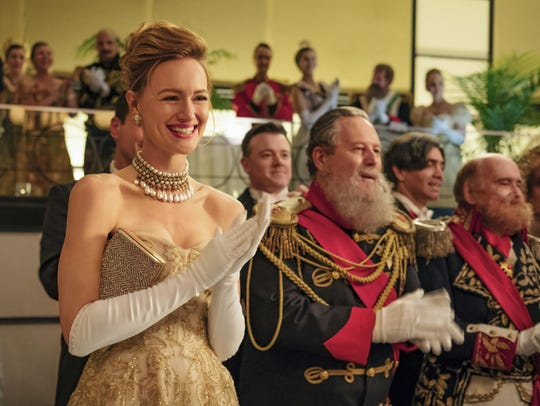 """Kerry Bishe in a scene from """"The Romanoffs,"""" premiering"""