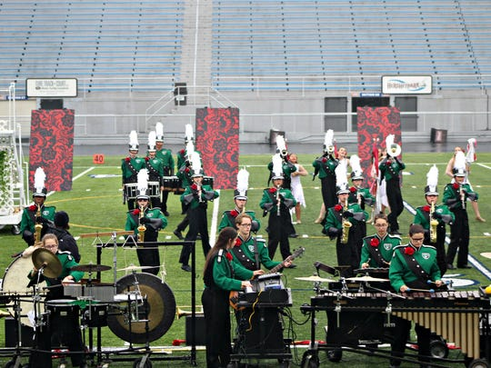 West Deptford High School Eagles Marching Band performs during the 2017 Atlantic Coast Championships at Hersheypark Stadium Nov. 5, 2017.