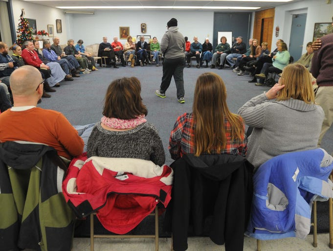 Members of the Englewood Christian Church gathered December 15, 2013  for their Sunday night conversation, a gathering that is the core of who they are.