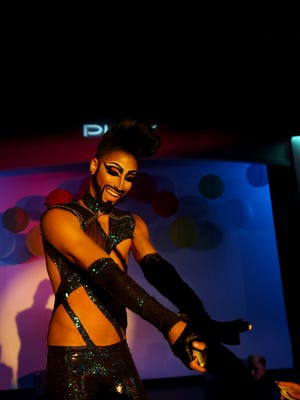 Axel Andrews performs at a show to benefit the victims in Orlando at Play Louisville Thursday night. Andrews' home bar was Pulse and he now helps raise money and awareness for cause.