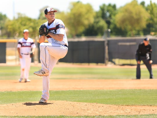Gilbert Perry pitcher Ty Pohlman.