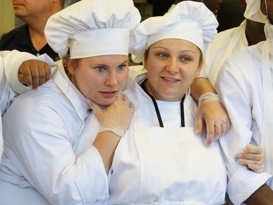 Culinary School students and teammates Kayla Draper