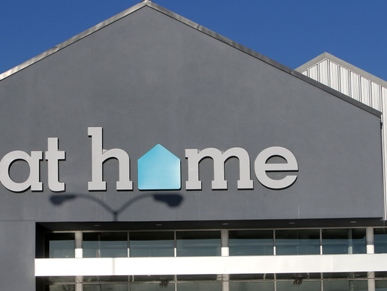 An at home store opened in the former Kmart building