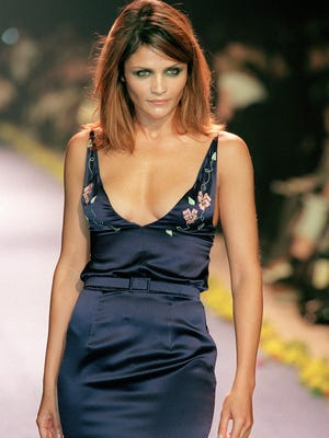 Danish supermodel Helena Christensen reached worldwide fame after appearing in Chris Isaak's 'Wicked Game' music video, seen here modeling for Chloe in 1998.
