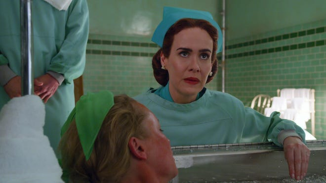 "Sarah Paulson as Mildred Ratched in the Netflix series ""Ratched."""