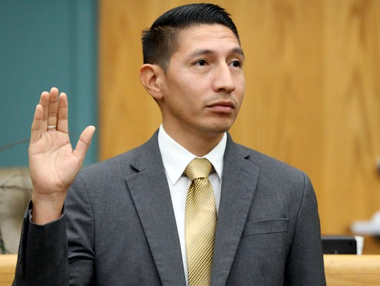 City Councilman Ben Molina takes his oath of office
