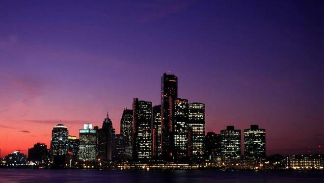 Detroit skyline March 10, 2011