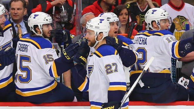 St. Louis Blues defenseman Alex Pietrangelo has six points in the Stanley Cup Playoffs.