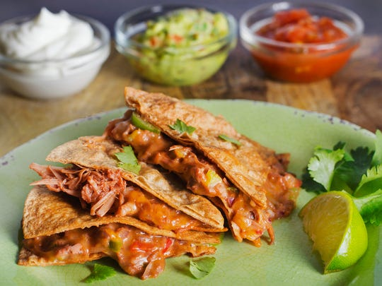 Jackfruit can be used as a meat substitute in quesadillas, like in this recipe using product from The Jackfruit Company. Find more recipes on how to use the versatile fruit on thejackfruitcompany.com.
