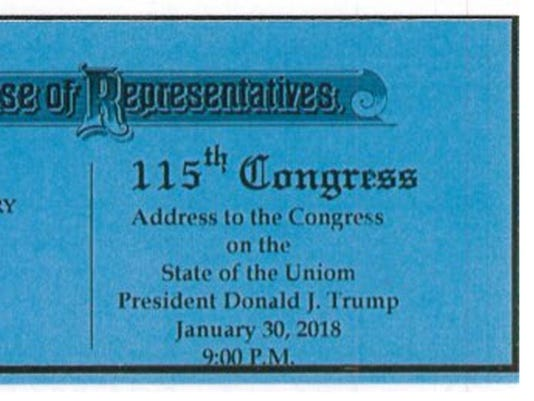 Tickets to Trump's first 'State of the Uniom' contain glaring typo