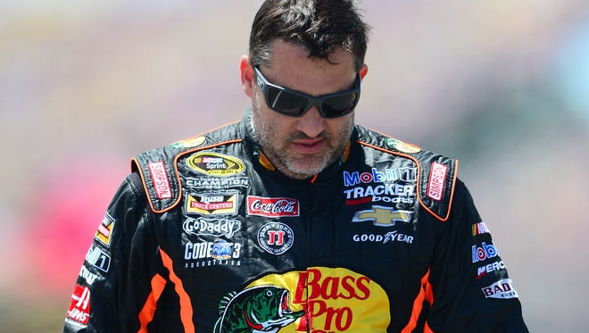 Tony Stewart during the Quicken Loans 400 at Michigan International Speedway in June.