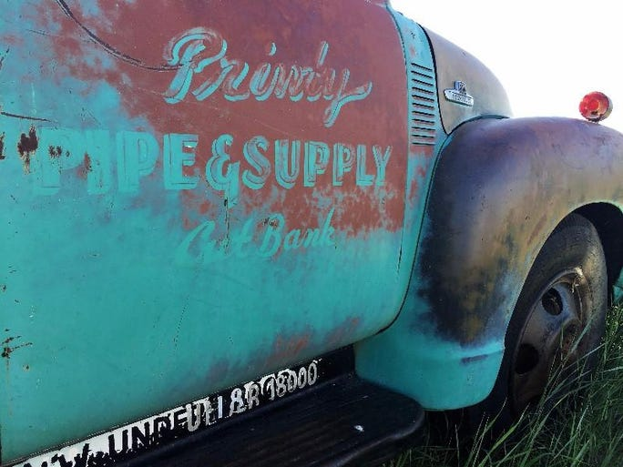 A truck advertising Printy Pipe and Supply, based in