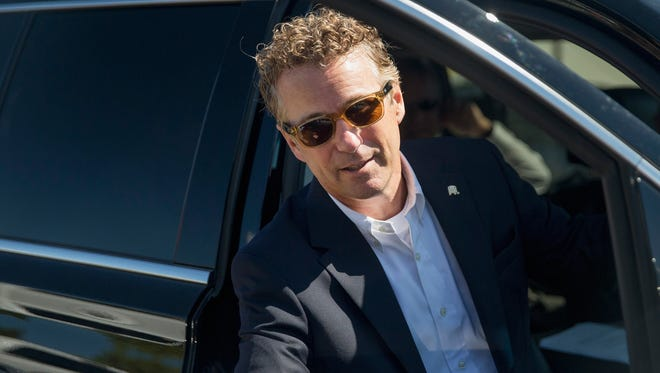 A file photo of Republican presidential candidate Sen. Rand Paul.