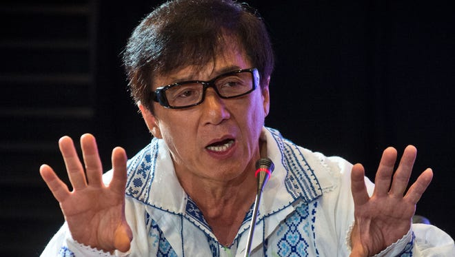 Jackie Chan in Bucharest in September 2014.