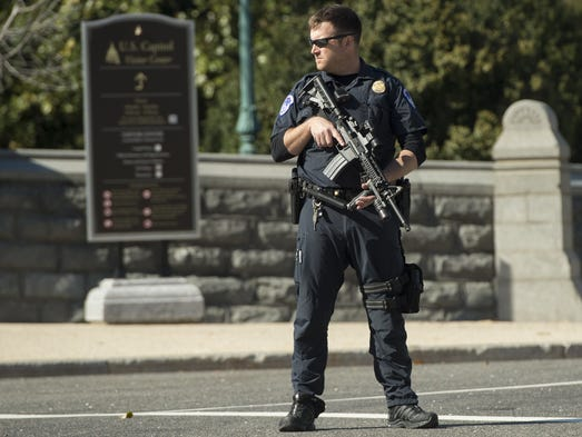 Police respond to a shooting at the U.S. Capitol in