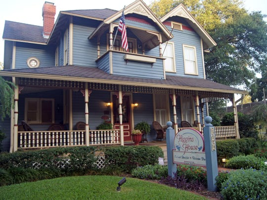 Sanford's 1891 Victorian Higgins House is situated