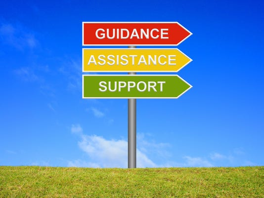 Signpost Guidance Assistance Support