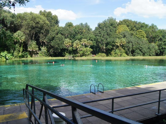 Rainbow Springs State Park, located southwest of Ocala