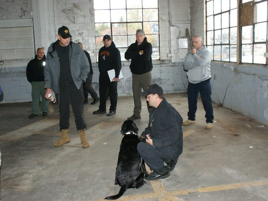 Several state K-9 units came to Port Clinton to participate in certification training with police Chief Robert Hickman.