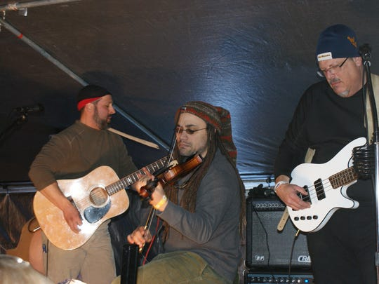 The Naked Bacon Band was among the long list of acts performing at the first Burning Snowman event.
