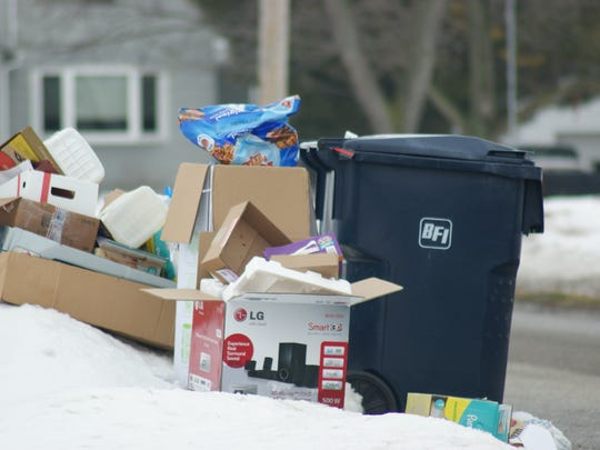Since the first of the year, trash located outside the bin is no longer expected to be picked up by Republic Trash Service in Oak Harbor.