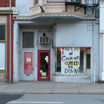 The former location of the Pink Pyramid bookstore on