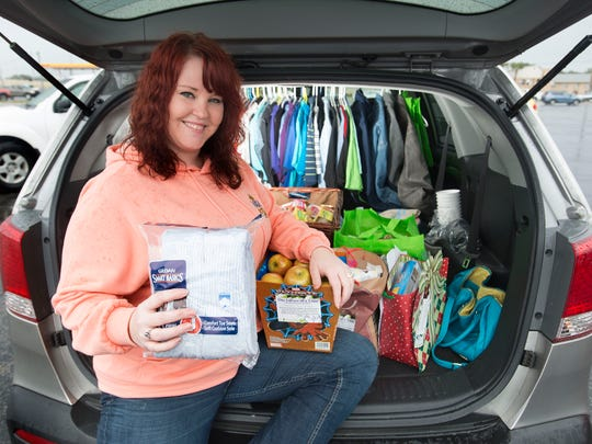 """Jennifer Coble was recently selected as the Base Military Spouse of the Year for Pensacola Naval Air Station. Coble also runs a non-profit called, """"One Corner at a Time"""" to distribute food and clothing to the areas homeless."""