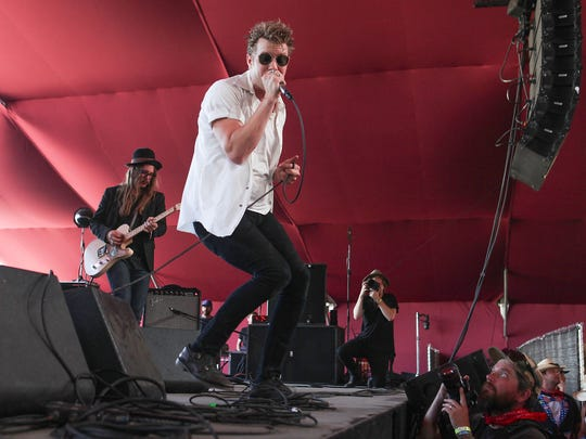 Apr 28, 2017; Indio, CA, USA; Anderson East performs during the Stagecoach Country Music Festival at Empire Polo Club. Mandatory Credit: Jay Calderon/The Desert Sun via USA TODAY NETWORK