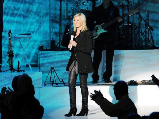 Olivia Newton-John performs at Flamingo Las Vegas in 2014. She finished a three-year residency at the casino in 2017.