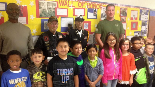 Veterans were invited to Puckett for Veterans Day.