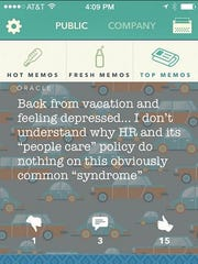 Employees use Memo, a virtual watercooler, to gripe