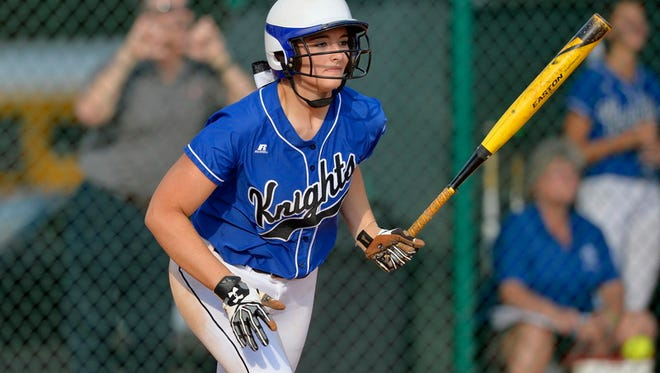 St. Joseph's senior Michelle Malsch tossed a one-hitter and went 4 for 4 in the Knights' 11-1, six-inning win over Ware Shoals Wednesday.