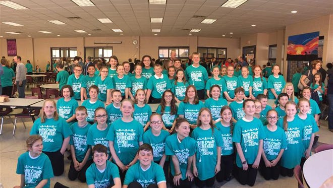 Northern York County School District students are shown here at the choral festival on March 2.