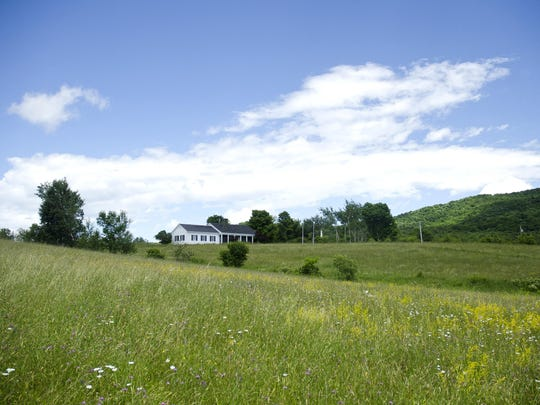 The Hubbardton Battlefield visitors center sits at the crest of Monument Hill in Hubbardton.