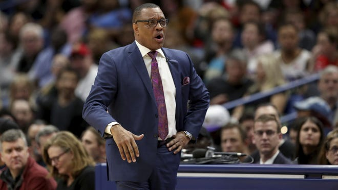 New Orleans Pelicans coach Alvin Gentry was fired Saturday after the Pelicans failed to make the playoffs for the fourth time in the past five season.
