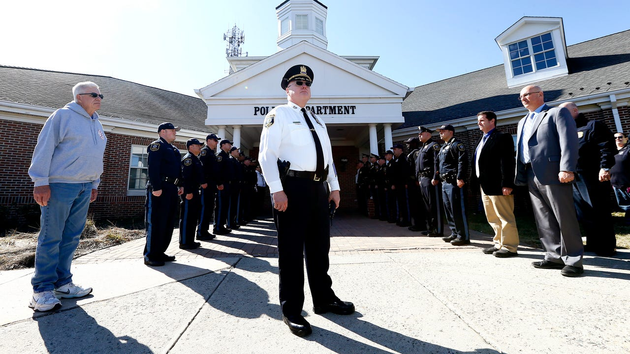 Walkout ceremony for retiring Parsippany, NJ Police Chief Paul Philipps, Feb. 28, 2018.