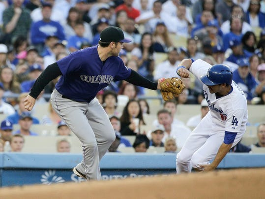 Rockies Dodgers Baseball