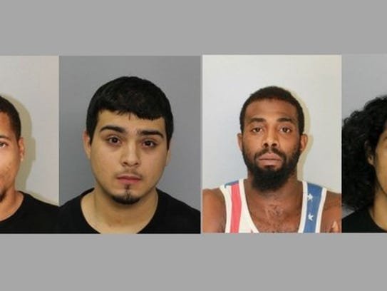 From left, Traunser Hughes, Filamir Gomez Jr., Jeremiah