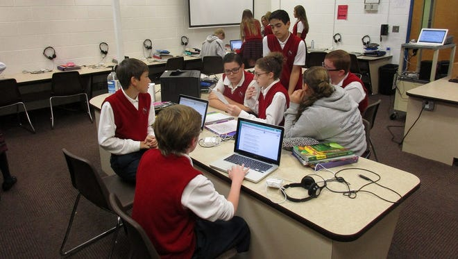 Sixth and seventh grade students at Saint Aloysius School in Jackson recently took part in The Verizon App Challenge.  This is a nationwide contest for middle and high-school-aged students that challenge them to develop concepts for mobile apps that solve a problem in their community.