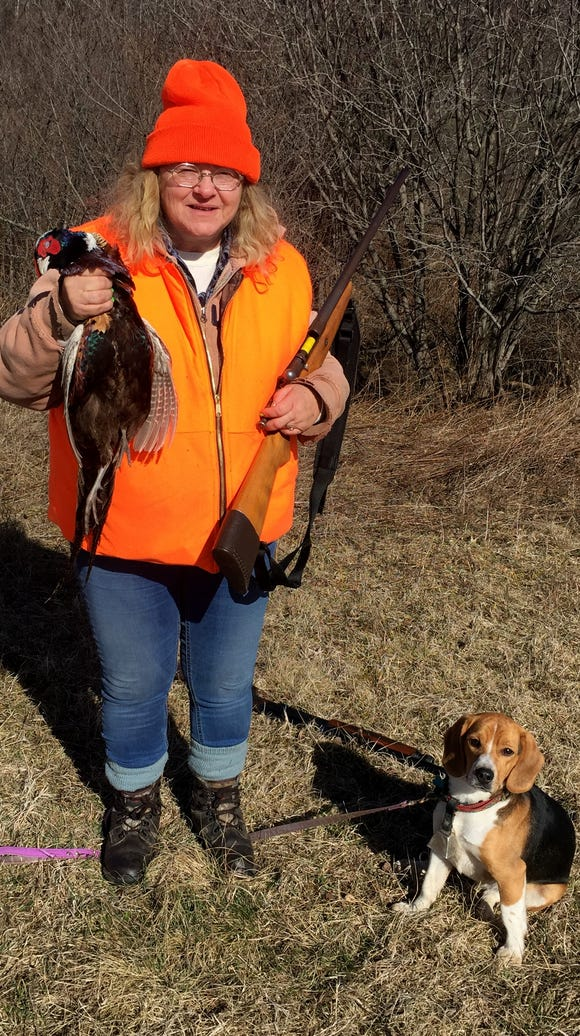 Carol and her beagle R.J. teamed up to put this cockbird