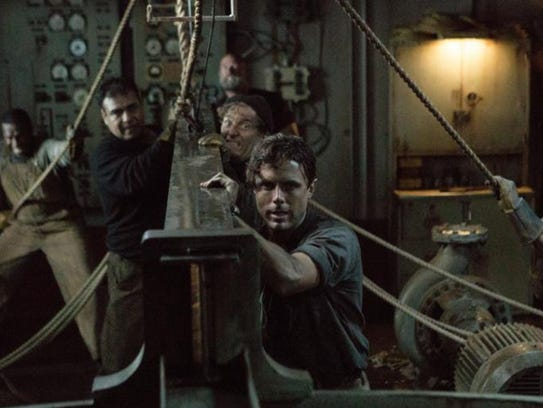 "Casey Affleck and Josh Stewart in ""The Finest Hours."""