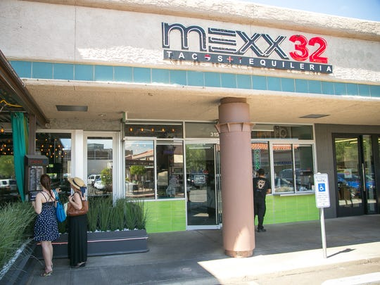 Mexx32 Tacos and Tequileria in the Camelback Corridor of Phoenix.