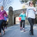 Throughout winter, this group of friends met regularly to train for the Black Mountain Marathon.