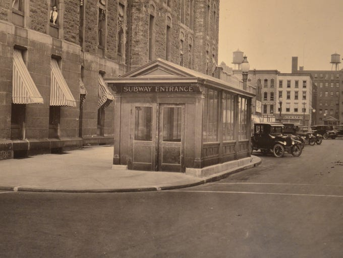 This was the entrance to the subway next to City Hall,